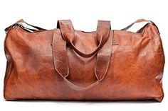 Barello Hemingway Echt Leder Duffle Bag Wochenend Tasche Große Reisetasche Leder Unisex JETZT ANSEHEN #Weekender #Reisetasche