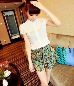 [qz051] กางเกงแฟชั่น กระโปรงแฟชั่นสไตล์เกาหลี สีสันสดใส | SoMoreMore.Com