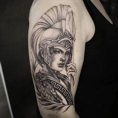 Greek Goddess Tattoo, Greek God Tattoo, Greek Mythology Tattoos, God Tattoos, Dream Tattoos, Body Art Tattoos, Sleeve Tattoos, Tatoos, Athena Tattoo