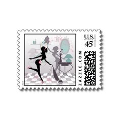 Spring Cleaning Postage Stamp