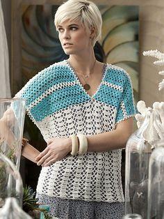 Ravelry: #16 Short Sleeve Top pattern by Kazekobo (風工房)