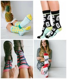 Woven Pear: Fun socks for women in patterns like pineapples and mix tapes