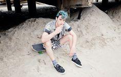 Sam Sorrels at Rockaway Beach, by Angelina Hobbs