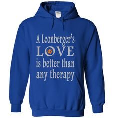 (New Tshirt Great) A Leonbergers love is better than any therapy at Tshirt United States Hoodies, Tee Shirts