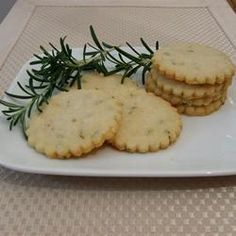 Savoury Rosemary and Asiago Shortbread ~ Really digging savoury snacks at the moment. If you can find Asiago, give it a try.