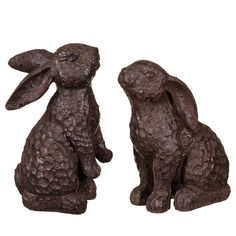 Cast Iron Effect Rabbits 2pk - Add some character to your garden with these ornate looking rabbits - garden decorations and ornaments at B&M