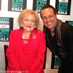 Betty White & Angus Mitchell at the FUNraising Gala 2013 #bettywhite #angusmitchell #FUNraising #PMTS #PaulMitchell