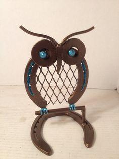 Metal Owl Painted by AmericanMetalArt on Etsy, $24.99