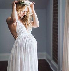 pregnant boho wedding