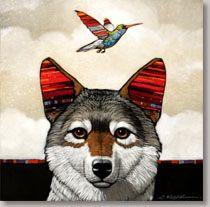 Craig Kosak - Warpaint Show - Coyote and Hummingbird