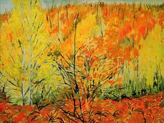 Autumn Landscape Epping Forest,  Sir Jacob Epstein, English Sculptor, Painter, born in America (1880 - 1959)
