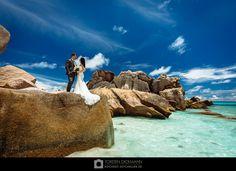 Fotografiert an der wundervollen Anse Cocos auf La Digue. Weitere Bilder auf http://www.heiraten-seychellen.de