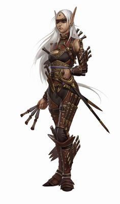 f Elf Rogue Assassin throwing knives the art of Eric Belisle: Pathfinder Iconic Adventurers Fantasy Warrior, Fantasy Rpg, Medieval Fantasy, Dnd Characters, Fantasy Characters, Female Characters, Dungeons And Dragons, Character Portraits, Character Art