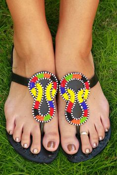 Infinity Sandals, made in Kenya.