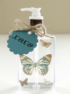 DIY Decorate hand sanitizer bottles