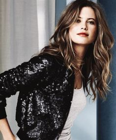 To dress down a sequined blazer, just add jeans and a tee!