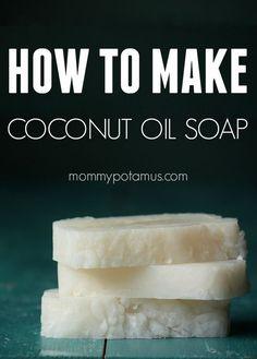 Fácil receita sabão de óleo de coco