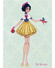 """O prêmio BET Awards 2017 aconteceu ontem e, como sempre, foi um desfile de roupas incríveis, ousadas e finas! Quem nunca se imaginou usando um look desses grifados e poderosos que custam mais que um carro, né? Não custa sonhar rs. Até as princesas Disney adorariam a ocasião: digno de tapete vermelho, a artista francesa Mida criou ilustrações delas em vestidos glamourosos! Chamada """"Dream Collection"""", ela elaborou looks fofos para..."""