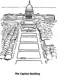 simple capitol building coloring pages - photo#28