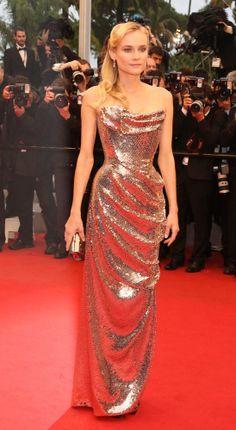 Diane Kruger in Vivienne Westwood - The Uncrowned Red Carpet Queen!   Celebrity lifestyle ... #cannesfilmfestival #dianekruger
