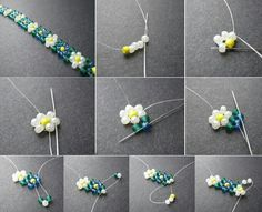 Best seed bead jewelry 2017 daisy chain of beads seed bead tutorials – Artofit Friendship Bracelets With Beads, Seed Bead Bracelets, Jewelry Bracelets, Pearl Bracelets, Pearl Necklaces, Rope Necklace, Gold Bangles, Bead Jewellery, Seed Bead Jewelry