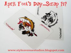 SASsy Paper Crafts: April Fools Day...Scrap It? My first post for #blogboost a 30 day blogging challenge!  http://styleavenuestudios.blogspot.com