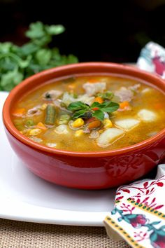 Sopa de la Huerta - AntojandoAndo Columbian Recipes, Healthy Cooking, Healthy Recipes, Healthy Soups, Fall Soup Recipes, Chowder Soup, Deli Food, Colombian Food, Mexican Food Recipes