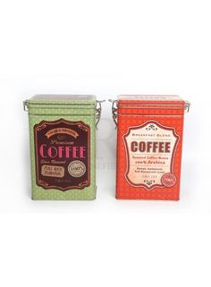 Storage Tin Coffee Box Mix 19cm @ rosefields.co.uk