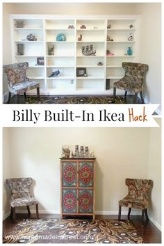 IKEA Billy bookcase hack is an awesome DIY that will transform a room. All that extra storage is perfect for organizing your home! From homemadeinterest.com