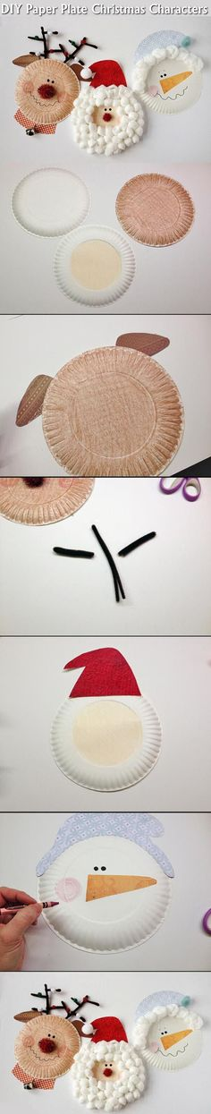 DIY Paper Plate Christmas Characters Pictures, Photos, and Images for Facebook, Tumblr, Pinterest, and Twitter