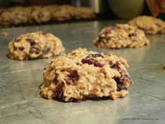 healthy soft-baked chocolate cherry oatmeal cookies