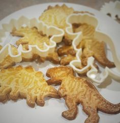 YES I GOT THE T REX COOKIE CUTTER . DO YOU HAVE ANY PROBLEM WITH THAT?  #cookies #t-rex #trex #cooking #yummy #emportepiece #patisserie #cake #baking #cuisinecouture #faitmaison #biscuits #nevertrustasewerwhoscooking