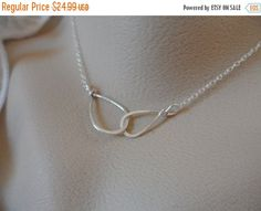 TODAY SALE Infinity  Necklace  Sterling by Jenalynscreations