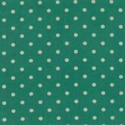 """Linen Mochi Dot (Teal) 70% cotton/30% linen, lightweight canvas, 44/45"""" wide"""