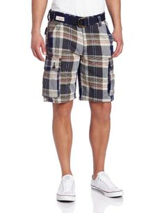 U.S. Polo Assn. Men\u0027s Plaid Cargo Short - List price: $56.00 Price: $25.99