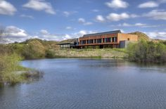Lake view of the Streamsong Clubhouse