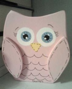 PINK PARIS BIRD OWL Bedroom wall shelf wood block decor girl craft Brooke baby | eBay