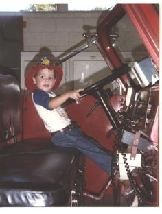 Scott's third birthday in Montgomery, Alabama. It's one of my favorites. New and first cowboy boots from Grandmother Paper. Then a visit to the fire station by her house.  He was one happy boy that day!