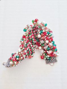 The Christmas Bracelet Holiday Jewelry, Sprinkles, Candy, Bracelet, Christmas, Sweet, Yule, Toffee, Bangle