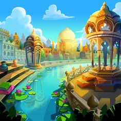 Ray Chan on Behance Cartoon Background, Great Team, Taj Mahal, Cool Art, Behance, Studio, Digital, Building, Travel