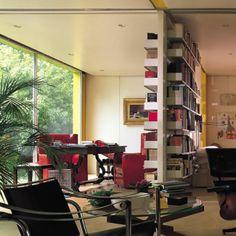 book shelves / room divider designed by Dieter Rams for vitsoe.