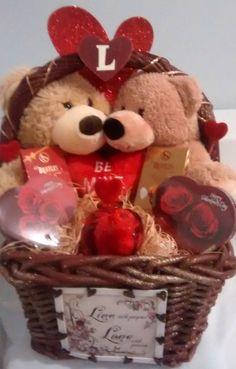 $65 @Ebay  LG Loving Bears Valentines Day Gift Basket  #Handmade