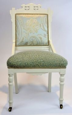 Reupholstered vintage Eastlake Victorian chair.   by MyChairAffairs This one is named after me <3