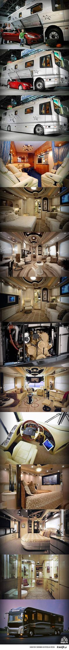 I really love this luxury bus.  I wish God will send this luxury bus to me.