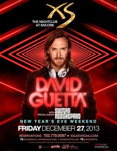 David Guetta with special guests Sultan + Ned Shepard @ #XS #LasVegas #Vegas #EDM #NYEweekend  TICKETS: http://edm-nye.wantickets.com/Events/143990/David-Guetta-at-XS-New-Years-Weekend/