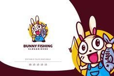 Bunny Mascot Cartoon Logo by Artnivora.Std on @creativemarket