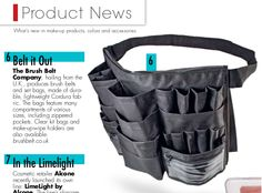 Pro Brush Belt featured in the latest issue of Make-up Artist Magazine. https://makeupmag.com/