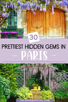 Planning a dream vacation in Paris France? If you want to avoid the ever present crowds in Paris, this Paris itinerary takes you to 3o less touristy hidden gems in Paris. There are so many amazing things to do and see in Paris that it's easy to find some more unusual, but equally fascinating, things to do in Paris. If you want to learn about Paris' secret spots and off the radar destinations, read on! Paris Itineraries | Paris Hidden Gems | Best Paris Destinations | What To Do and See in… The Cure, Gems, Pretty, Rhinestones, Jewels, Gemstones, Emerald, Gem