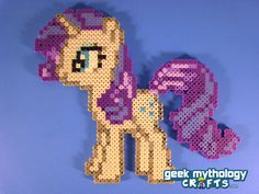 Rarity - My Little Pony Friendship is Magic - Perler Bead Sprite