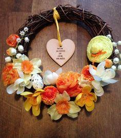 Handmade memorial Easter Wreath made to order